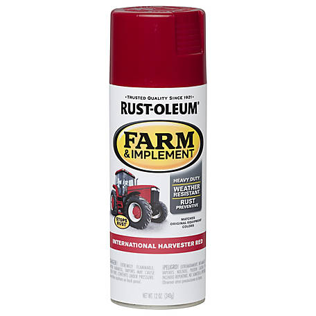 Rust-Oleum Rust-Oleum Specialty Farm & Implement Spray Paint, Gloss, International Harvester Red, 12 oz., 280127