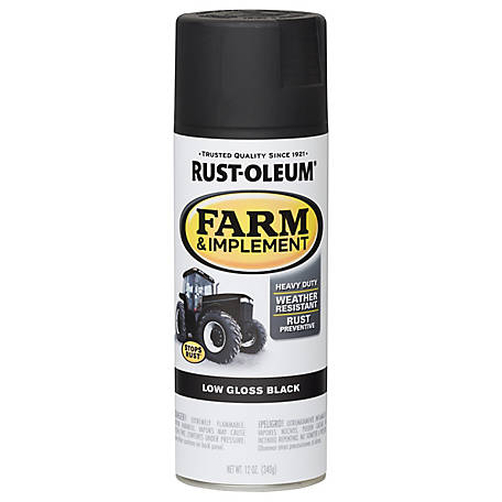 Rust-Oleum Specialty Farm & Implement Low Gloss Black 12 oz  Spray at  Tractor Supply Co