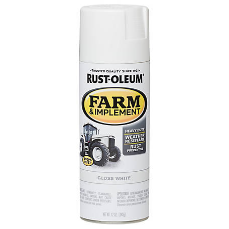 Rust-Oleum Rust-Oleum Specialty Farm & Implement Spray Paint, Gloss, White, 12 oz., 280132