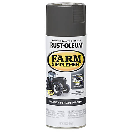 Rust-Oleum Specialty Farm & Implement Gloss, Massey Ferguson Gray 12 oz. Spray