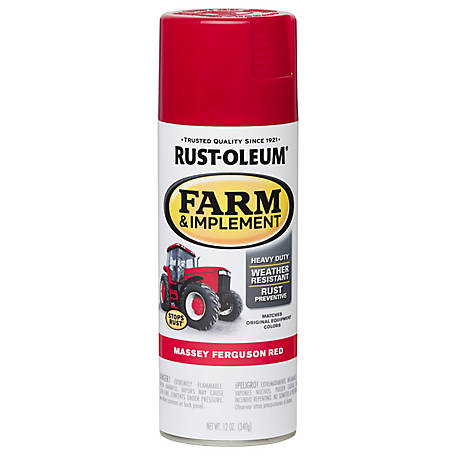 Rust-Oleum Farm Implement Spray Paint, Massey Ferguson Red Spray, 12 oz.