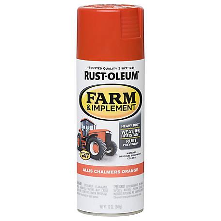 Rust Oleum Farm Implement Spray Paint Allis Chalmers Orange