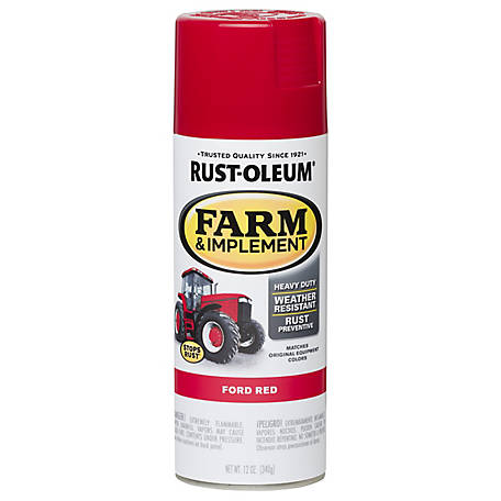 Rust-Oleum Rust-Oleum Specialty Farm & Implement Spray Paint, Gloss, Ford Red, 12 oz., 280136