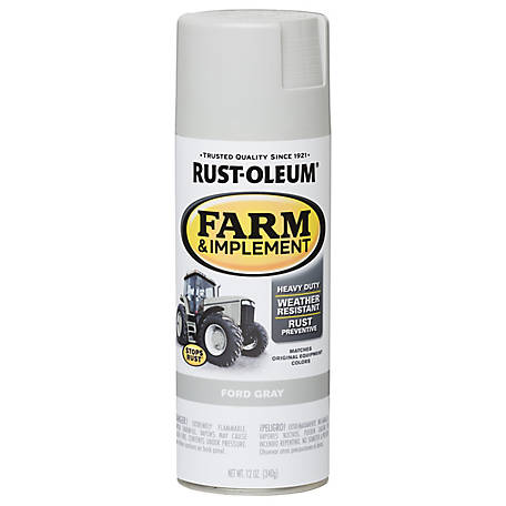 Rust-Oleum Rust-Oleum Specialty Farm & Implement Spray Paint, Gloss, Ford Gray, 12 oz., 280138