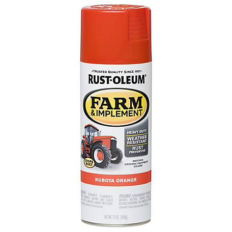 Rust-Oleum Specialty Farm & Implement Gloss, Kubota Orange 12 oz  Spray at  Tractor Supply Co
