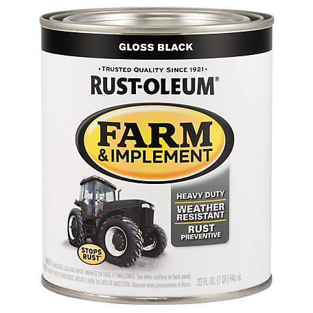 Rust-Oleum Rust-Oleum Specialty Farm & Implement Paint, Gloss, Black, 1 qt., 280104