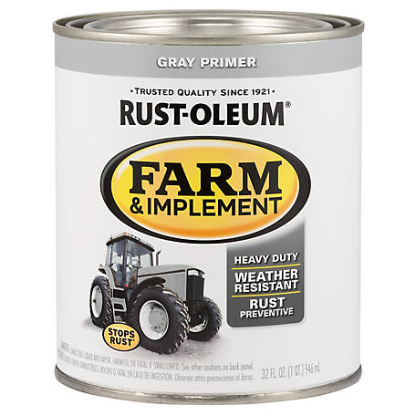 Rust-Oleum Rust-Oleum Specialty Farm & Implement Paint Primer, Flat, Gray, 1 qt., 280106