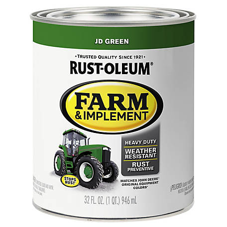 Rust-Oleum Rust-Oleum Specialty Farm & Implement Paint, Gloss, John Deere Green, 1 qt., 280108