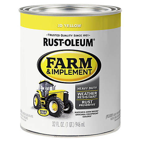 Rust-Oleum Specialty Farm & Implement Gloss, John Deere Yellow, 1 qt  at  Tractor Supply Co