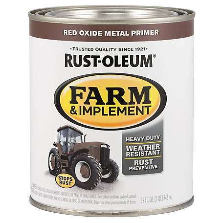Rust-Oleum Rust-Oleum Specialty Farm & Implement Paint Red Oxide Metal Primer, Flat, Red, 1 qt., 280151