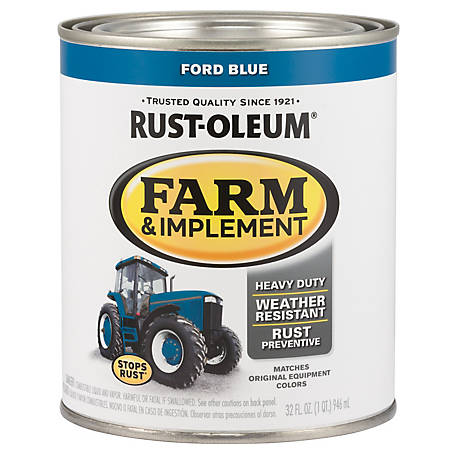 Rust-Oleum Rust-Oleum Specialty Farm & Implement Paint, Gloss, Ford Blue, 1 qt., 280153