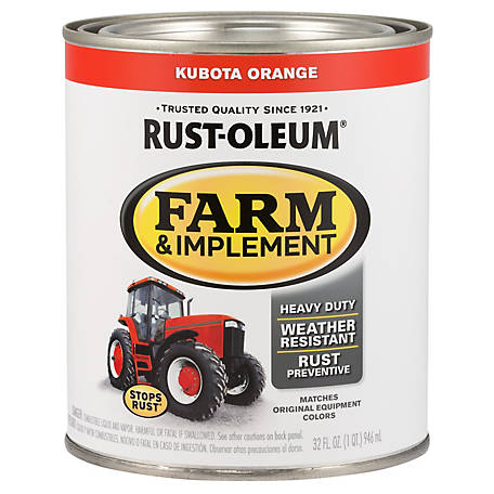Rust-Oleum Specialty Farm & Implement Gloss, Kubota Orange, 1 qt.