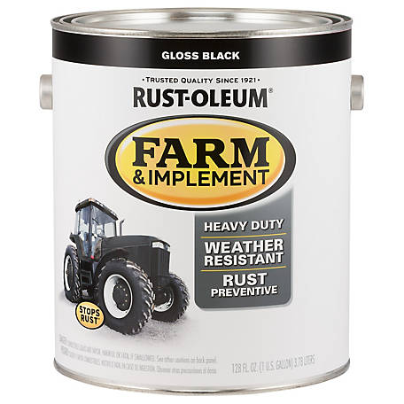 Rust-Oleum Rust-Oleum Specialty Farm & Implement Paint, Gloss, Black, 1 gal., 280165