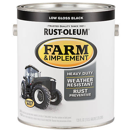 Rust-Oleum Rust-Oleum Specialty Farm & Implement Paint, Low Gloss, Black, 1 gal., 280168