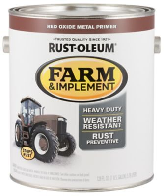 Rust Oleum Rust Oleum Specialty Farm Implement Paint Red Oxide Metal Primer Flat Red 1 Gal 280171 At Tractor Supply Co