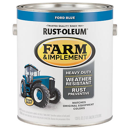 Rust-Oleum Rust-Oleum Specialty Farm & Implement Paint, Gloss, Ford Blue, 1 gal., 280172