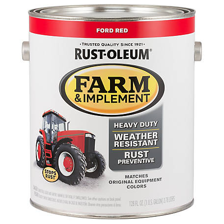 Rust-Oleum Rust-Oleum Specialty Farm & Implement Paint, Gloss, Ford Red, 1 gal., 280177