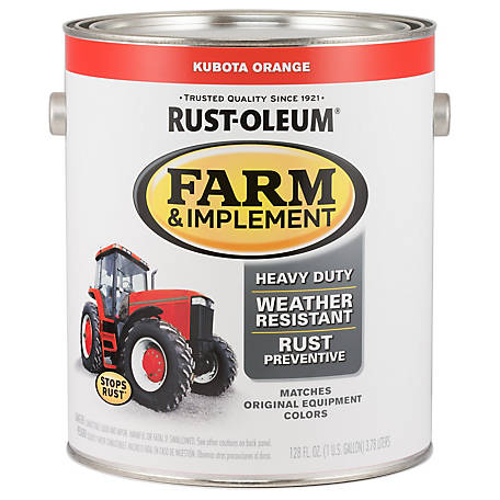 Rust-Oleum Rust-Oleum Specialty Farm & Implement Paint, Gloss, Kubota Orange, 1 gal., 280183