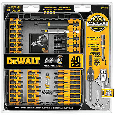 DeWALT 40 pc. Impact Ready Screwdriver Set, DWA2T40IR