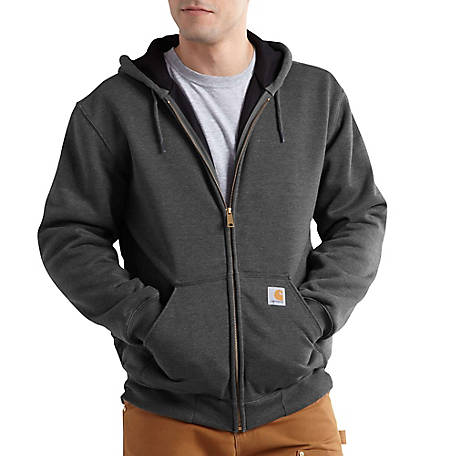 Carhartt Men's Rain Defender Rutland Thermal Lined Hooded Zip-Front Sweatshirt