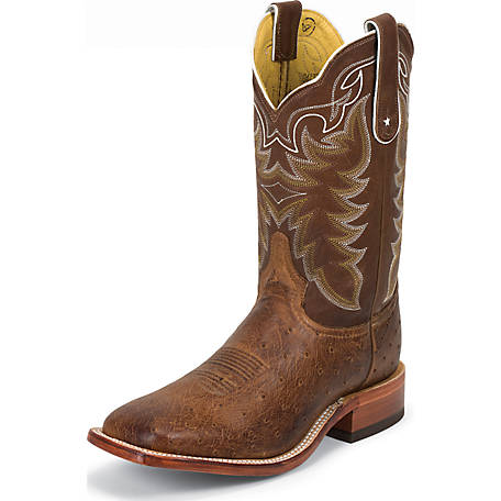 Tony Lama Men's 11 in. Vintage Smooth Ostrich Super Exotic Western Boot