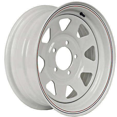 Martin Wheel 5-Hole Steel Custom Spoke Trailer Wheel with Valve Stem, 15X6.0, 5 Hole