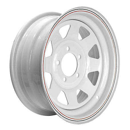 Martin Wheel 5-Hole Steel Custom Spoke Trailer Wheel with Valve Stem, 14X5.5, 5 Hole