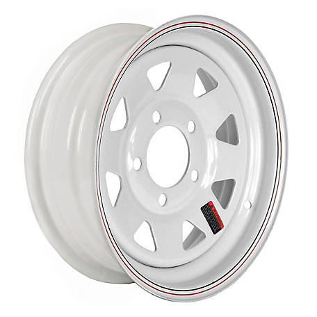 Martin Wheel 5-Hole Steel Custom Spoke Trailer Wheel with Valve Stem, 13X4.5, 5 Hole