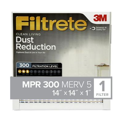 3M Filtrete Basic Dust Filter; 14 in. x 14 in. x 1 in.