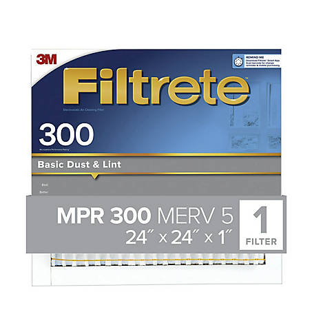 3M Filtrete Basic Dust Filter, 24 in. x 24 in. x 1 in.