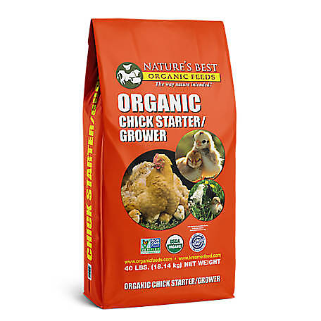 Nature's Best Organic Chick Starter/Grower Crumbles, 40 lb., 040512C