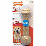 Nylabone Power Chew Barbell Peanut Butter, L/XL