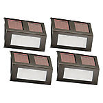 Nature Power Solar Powered LED Step Lights, Bronze Finish, Pack of 4
