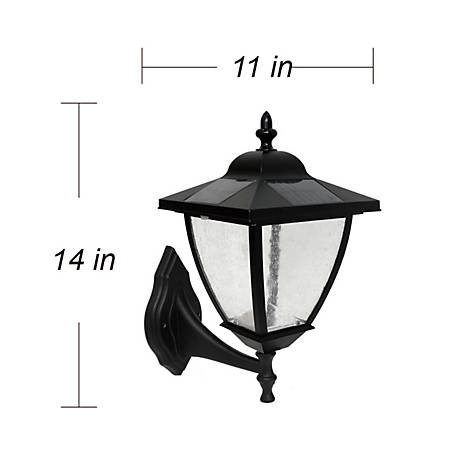 Nature Power Bayport Solar Lamp with Natural White LED and 3 Install Mounts in Black Finish