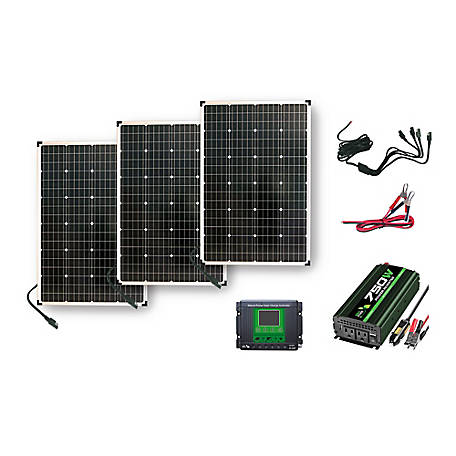 Nature Power 330W Monocrystalline Solar Powered 12V Battery Charger, 50262