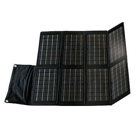 Nature Power 80W Folding Monocrystalline Solar Panel with Laptop Charger Adaptors