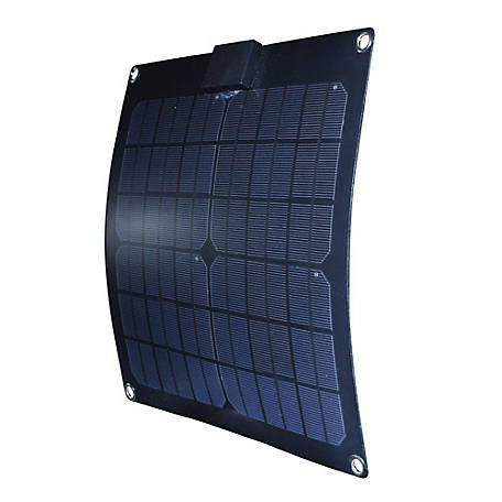 Nature Power 15W Semi-Flex Monocrystalline Solar Panel for 12V Charging, 56701