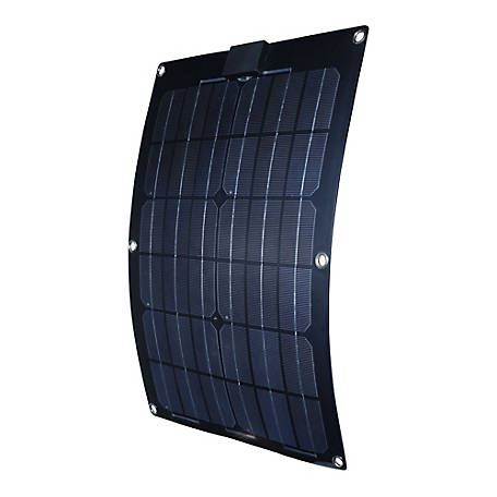 Nature Power 25W Semi-Flex Monocrystalline Solar Panel for 12V Charging, 56702