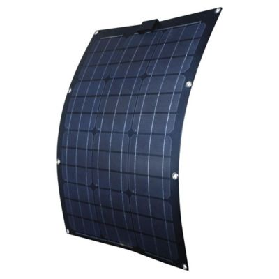 Buy Nature Power 50W Semi-Flex Monocrystalline Solar Panel for 12V Charging Online