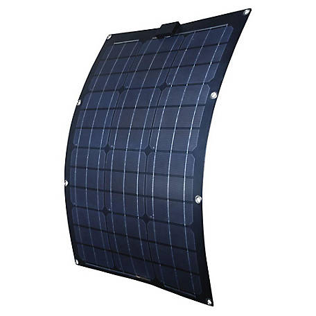 Nature Power 50W Semi-Flex Monocrystalline Solar Panel for 12V Charging, 56703