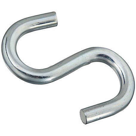 National Hardware N347-856 2076 Open S-Hook, Zinc Plated