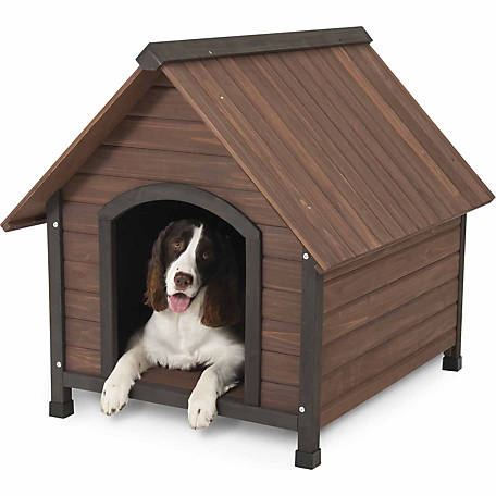 Aspen Pet Ruff Hauz Peak Roof Dog House, 50 to 90 lb.