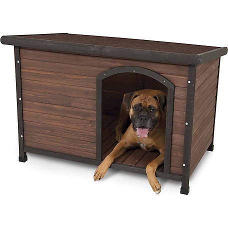 Aspen Pet Ruff Hauz Offset Entry Dog House, 50 to 90 lb.