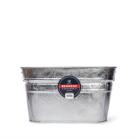 Behrens Hot Dipped Steel Tub, Square