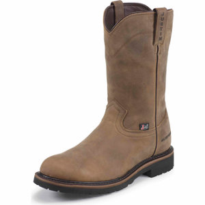 Justin Men S 10 In Waterproof Steel Toe Worker Ii Boot At