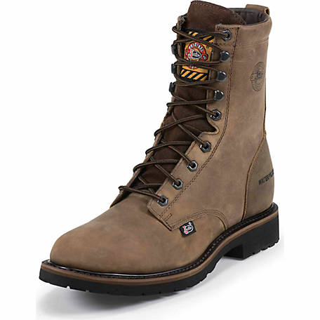 Justin Men's 8 in. Waterproof Steel Toe Worker II Boot