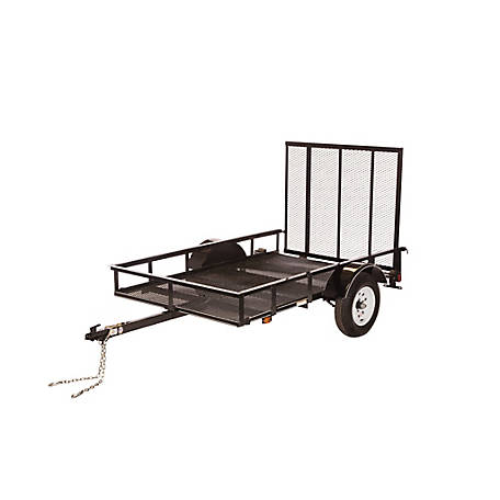 Carry-On Trailer 5 ft. x 8 ft. Open Mesh-Floor Utility Trailer, Model #: 5X8SP