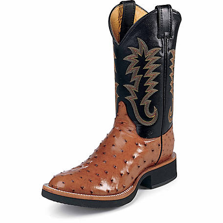 ed4d28894f2 Justin Men's 11 in. Full Quill Ostrich Tekno Crepe Boot at Tractor Supply  Co.