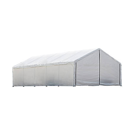 ShelterLogic 18 ft. x 30 ft. White Canopy Enclosure Kit, Fire Rated