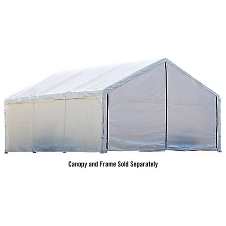 ShelterLogic 18 ft. x 40 ft. White Canopy Enclosure Kit, Fire Rated